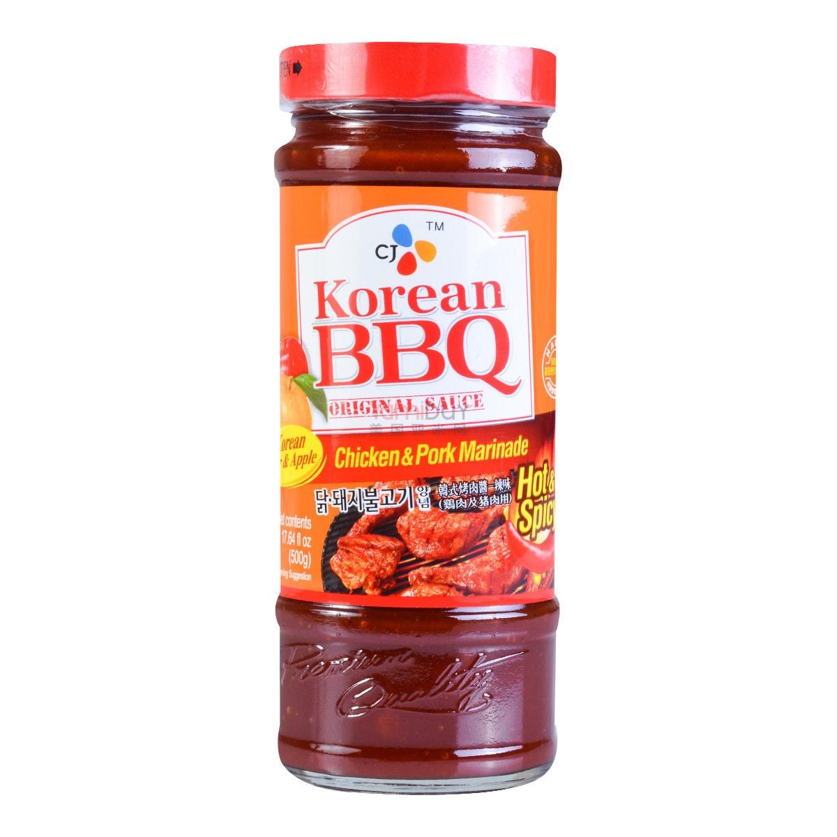 韩国CJ希杰 韩式烧烤酱 烤鸡烤猪酱 香辣味 500g
