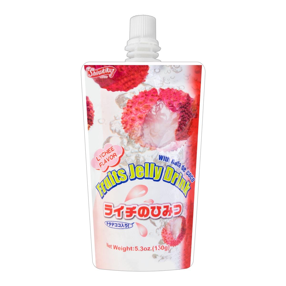 日本SHIRAKIKU赞岐屋 果冻爽椰果粒 荔枝味 150g