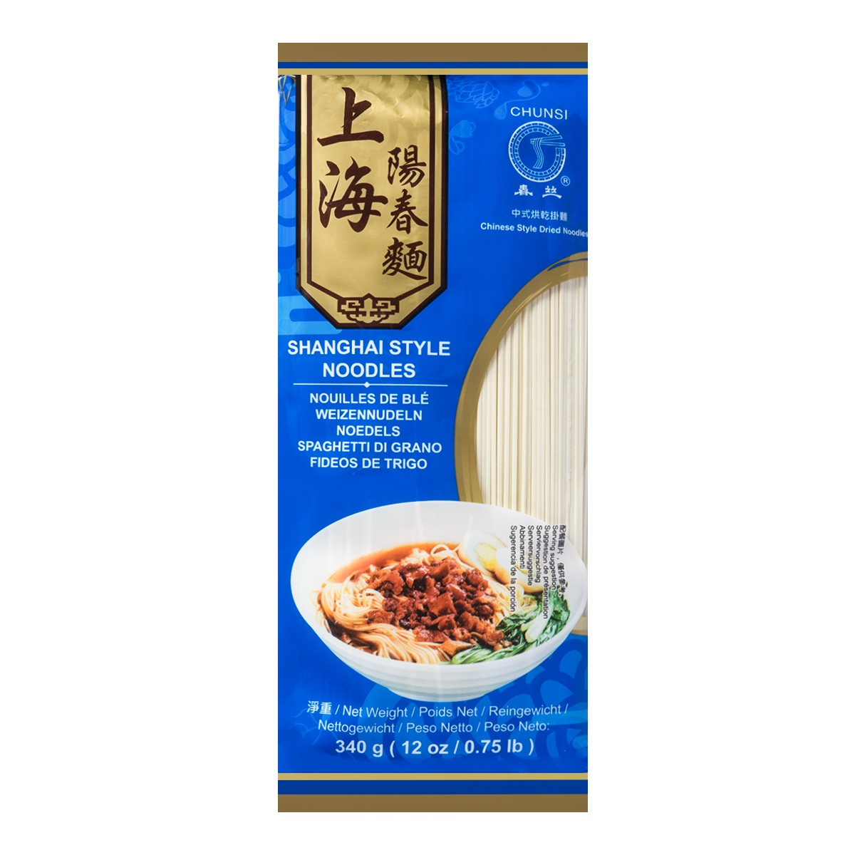 CHUNSI Shanghai Style Noodles 340g