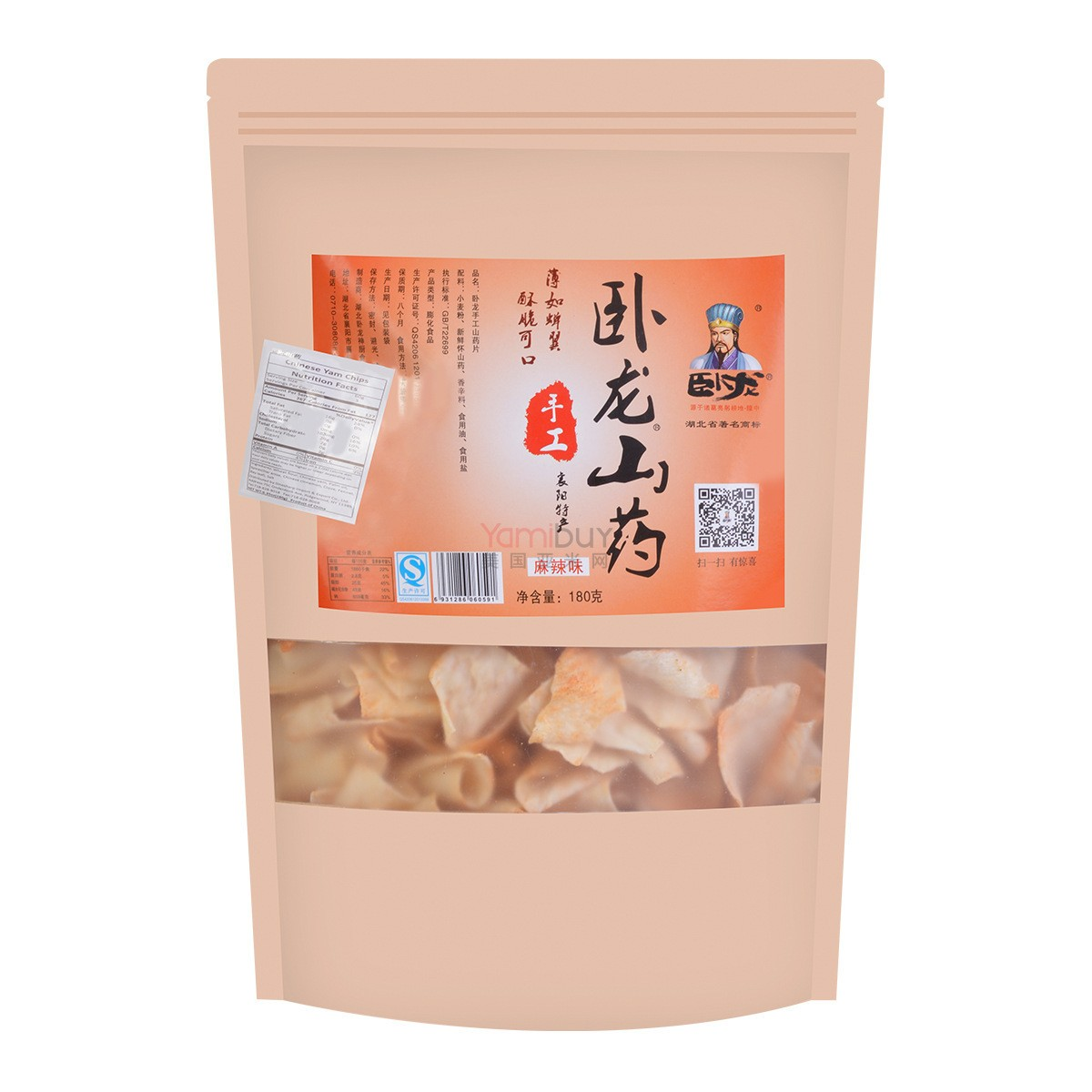 WOLONG Chinese Yam Chips Spicy 180g