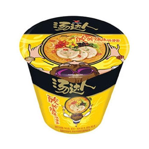 台湾统一 汤达人 酸酸辣辣豚骨拉面 杯装 90g