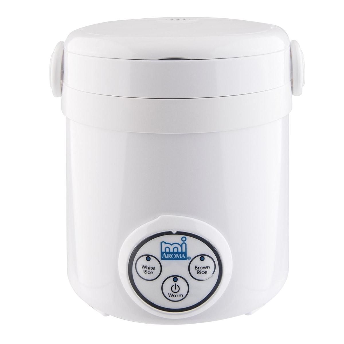 美国AROMA  智能迷你电饭煲 3杯熟米容量 8''  x 7.5''  x 7.5''  MRC-903D 1-3人份 (2年制造商保修)