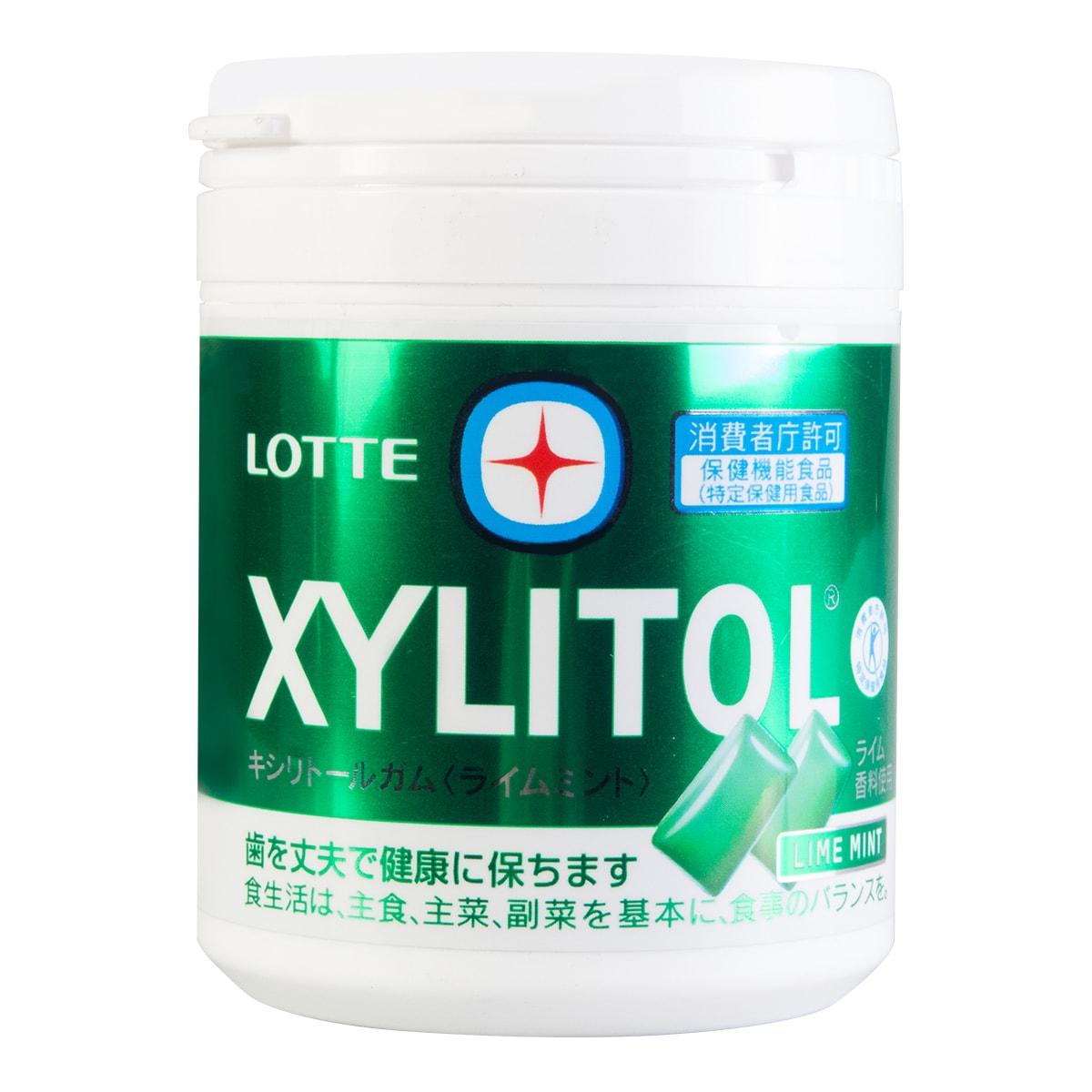 【清仓】日本LOTTE乐天 XYLITOL 口香糖 柠檬薄荷味 143g