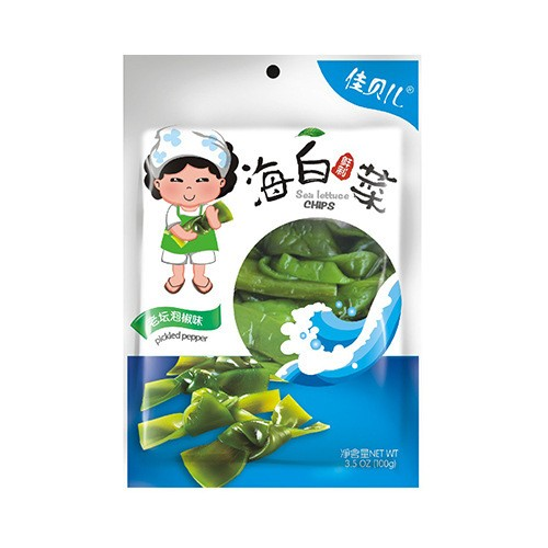 YUMEI JIABEIER Sea Lettuce Chips Pickled Pepper 100g