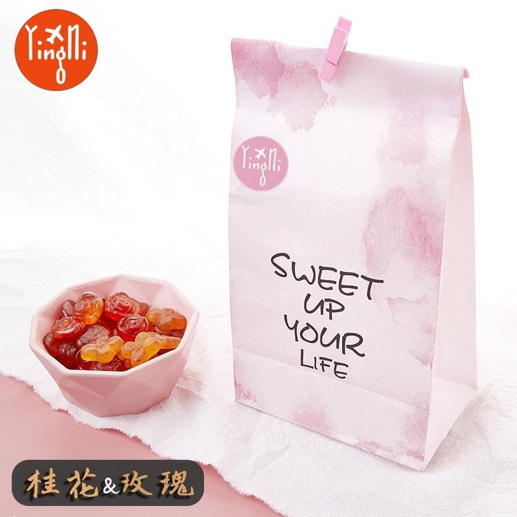 【中国直邮】英尼 花瓣软糖 (玫瑰+茉莉)180g