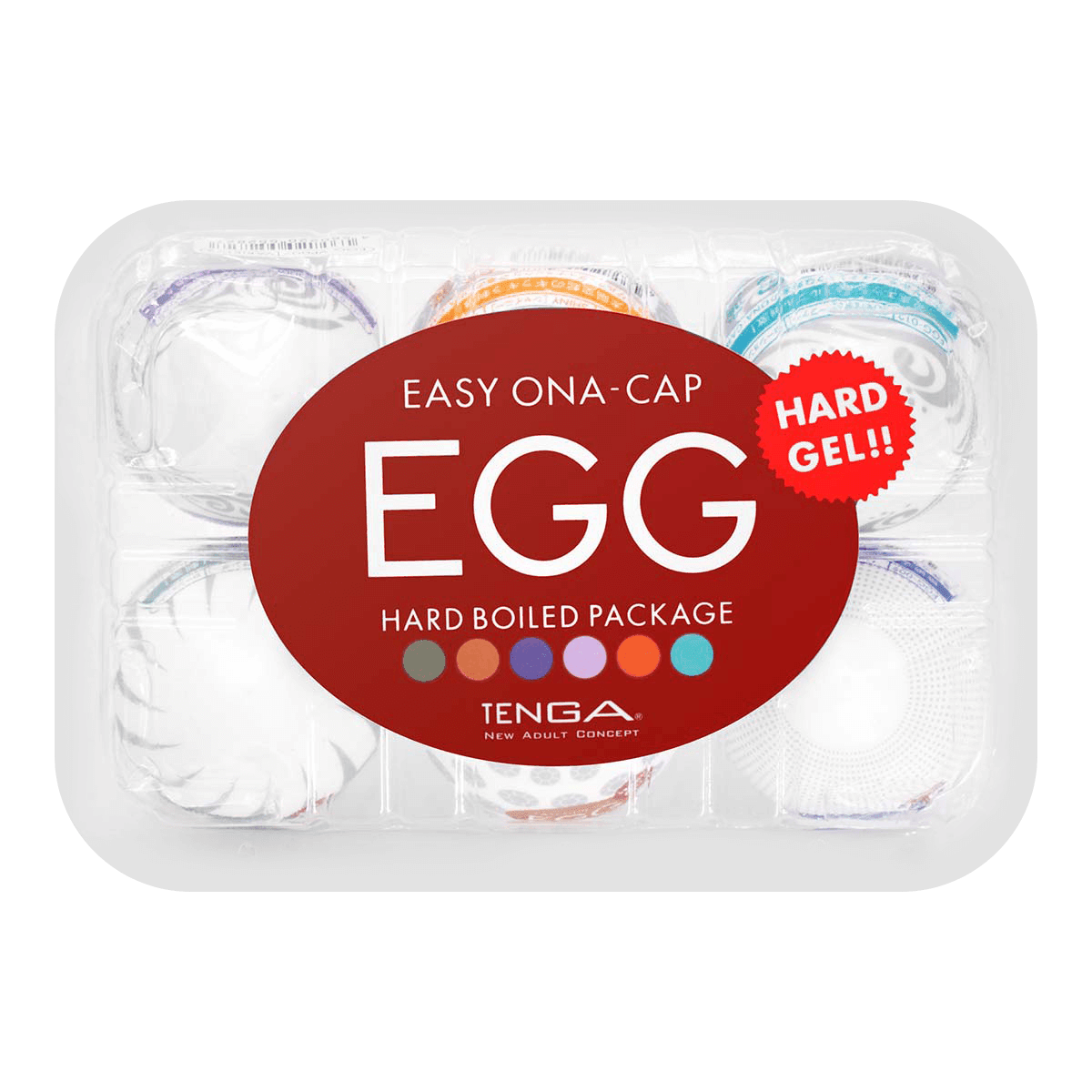 Yamibuycom International Programmers Day Tenga Play Gel Rich Aqua Egg Variety Pack Hard Boiled Edition