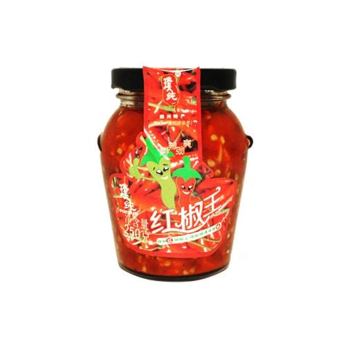 璞纯 红椒王 辣椒酱 250g 四川特产