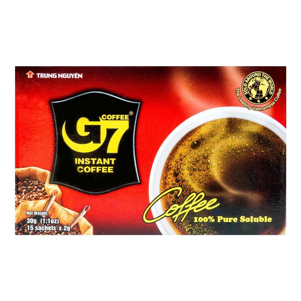 越南中原 G7无糖速溶黑咖啡 15包入 30g