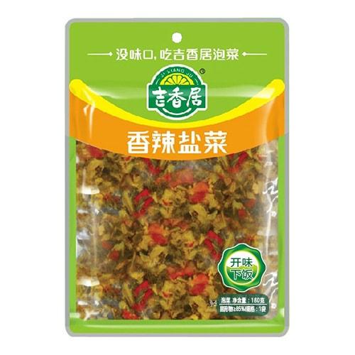 吉香居 即食小菜 香辣盐菜 180g