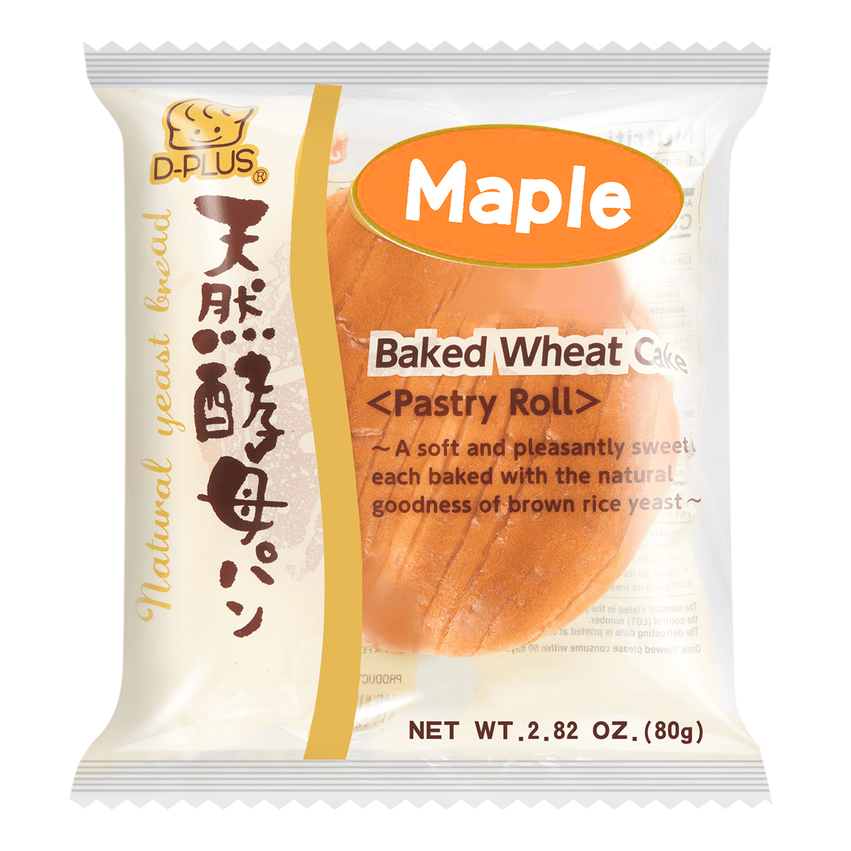 D-PLUS Natural Yeast Bread Maple Syrup Flavor 80g