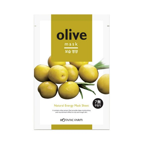 BOTANIC FARM Natural Energy Mask Sheet Olive Mask 1sheet