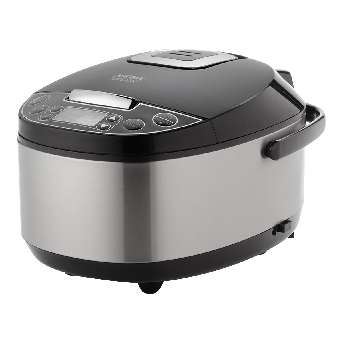 AROMA 12-Cup Digital Display Rice Cooker Slow Cooker and Food Steamer 14