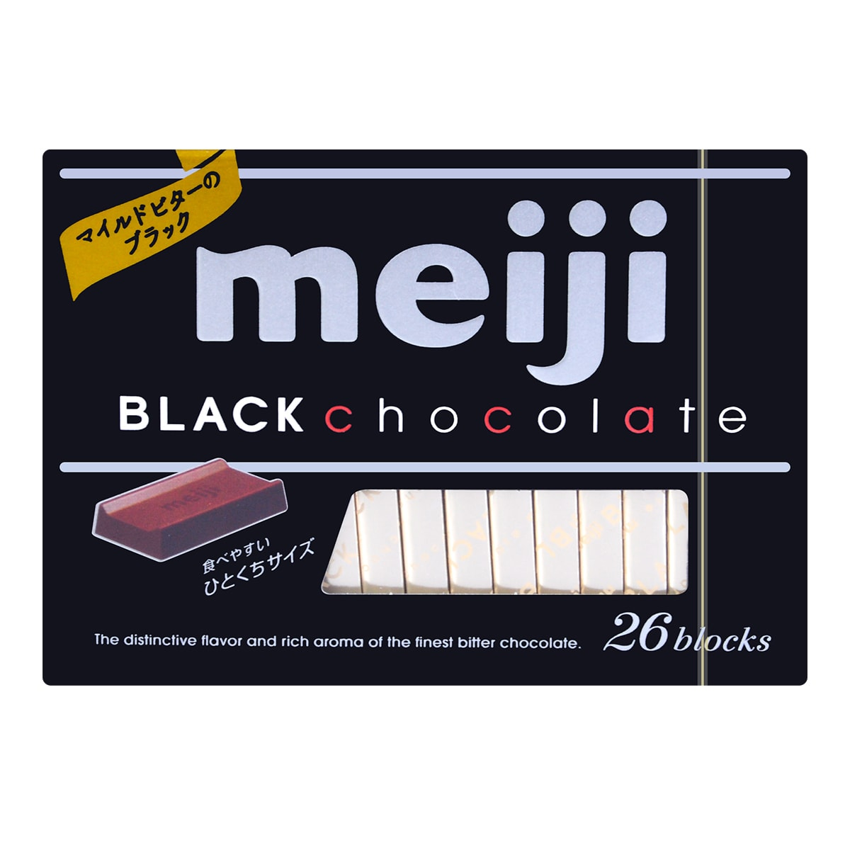 MEIJI Black Chocolate 26 blocks