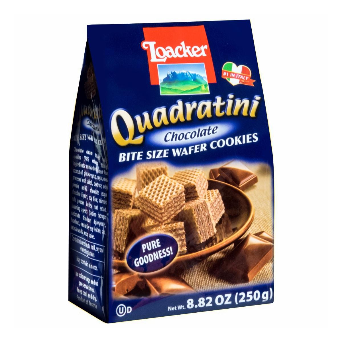 意大利LOACKER莱家 QUADRATINI 华夫小威化 巧克力味 250g
