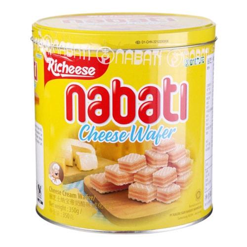 印尼丽芝士 纳宝帝奶酪味威化饼干 铁罐装 350g
