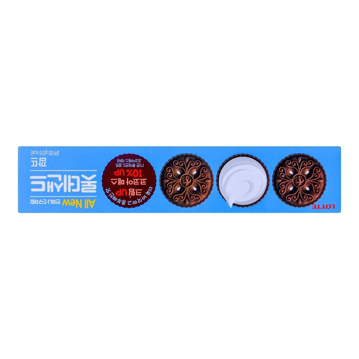 韩国LOTTE乐天 奶油巧克力夹心饼干 105g