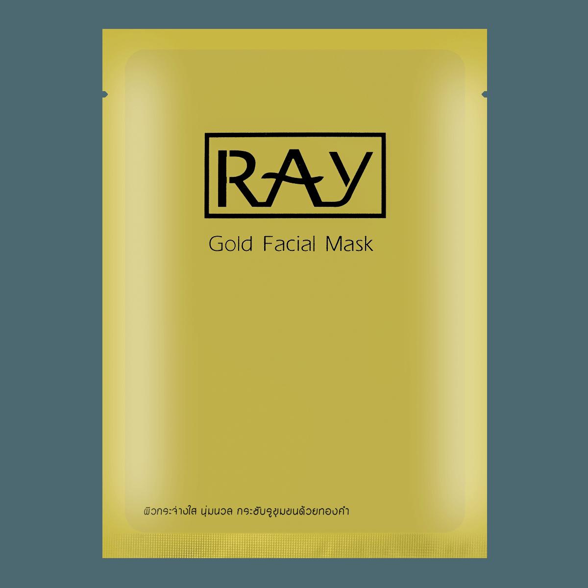 泰国RAY妆蕾 蚕丝金色修复提亮面膜 单片入