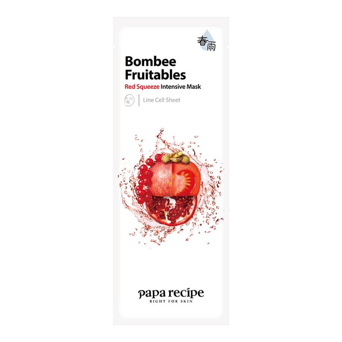 PAPA RECIPE Bombee Fruitables Red Squeeze Intensive Mask 1 sheet