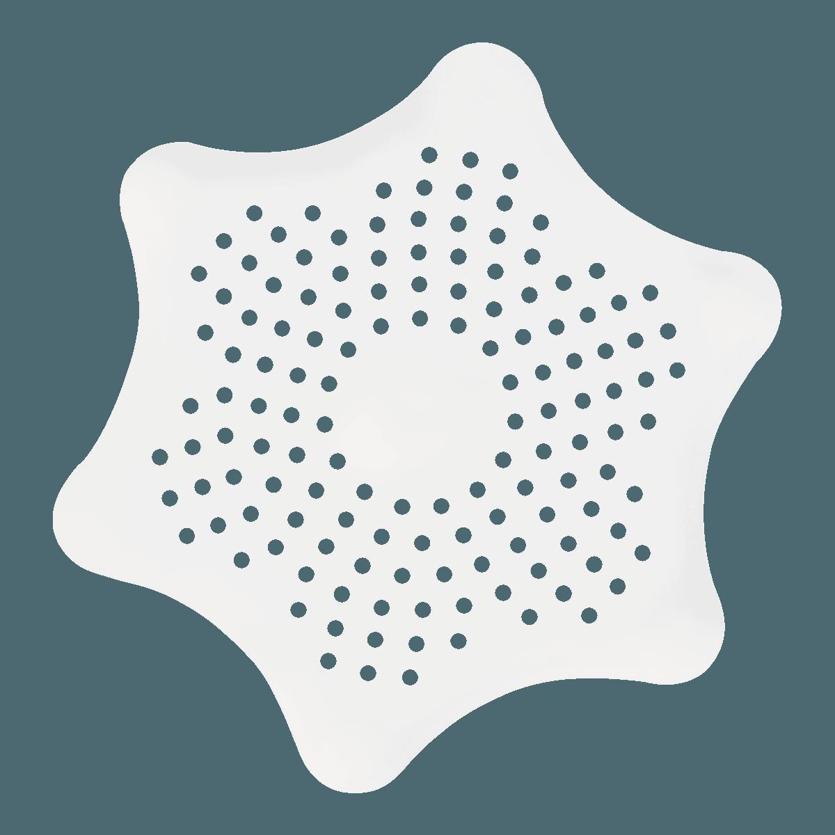 日本OKAZAKI 星星形状排水口过滤网 12cm 一件入 颜色随机发送