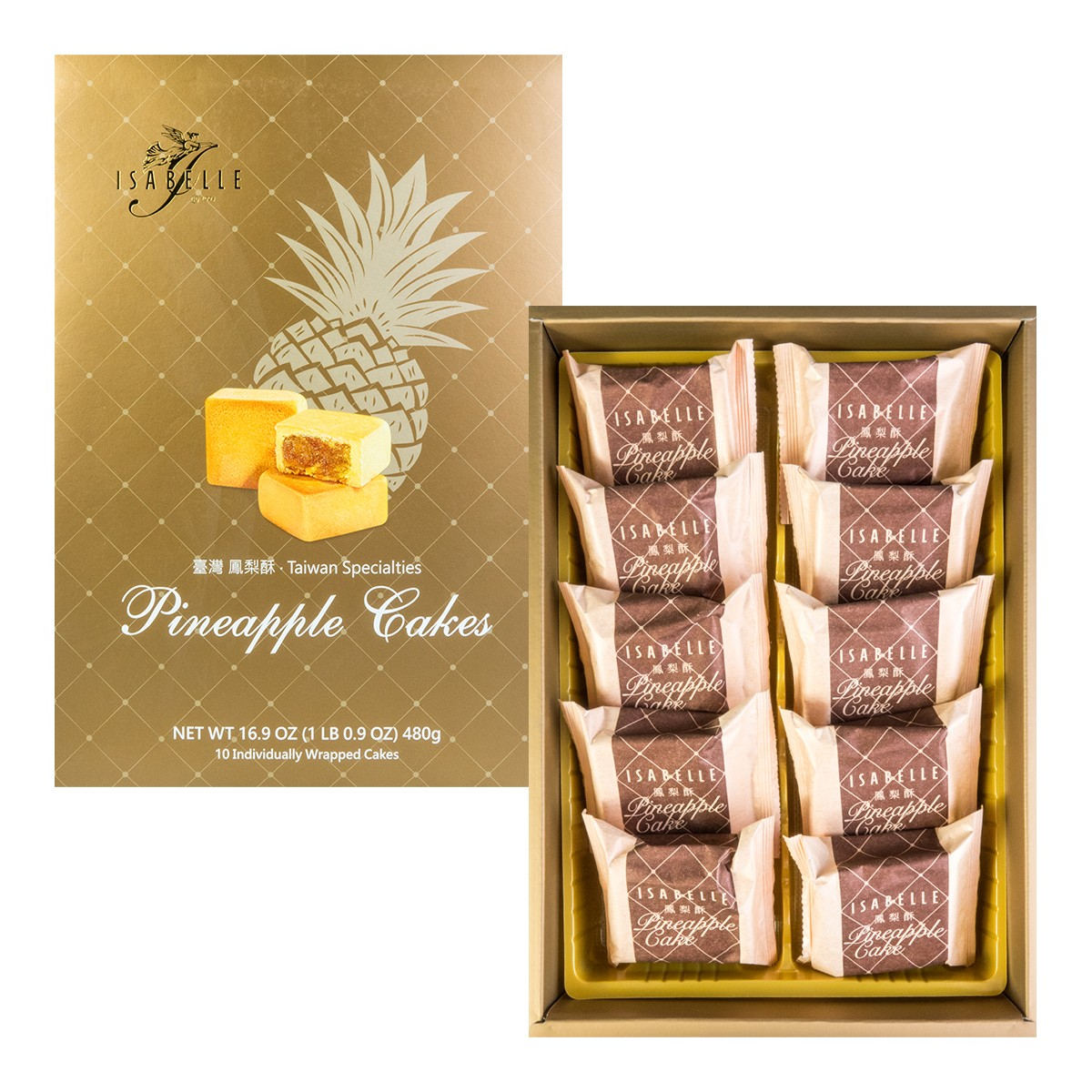 ISABELLE Taiwan Specialties Pineapple Cakes 480g