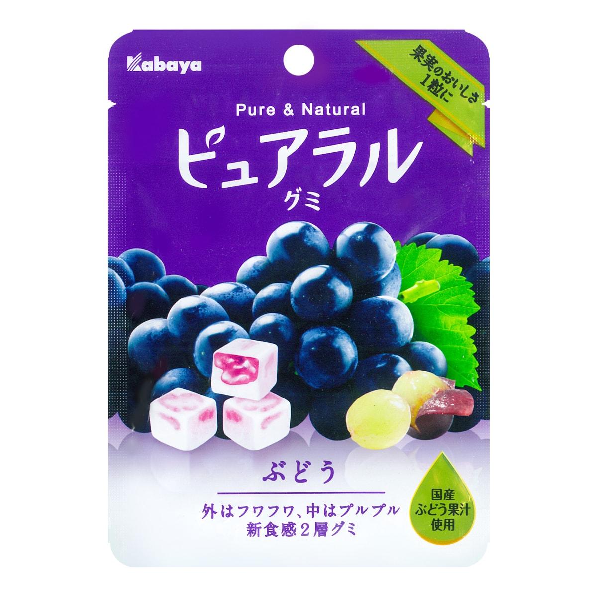 日本KABAYA 巨峰果汁夹心QQ软糖 葡萄味 45g
