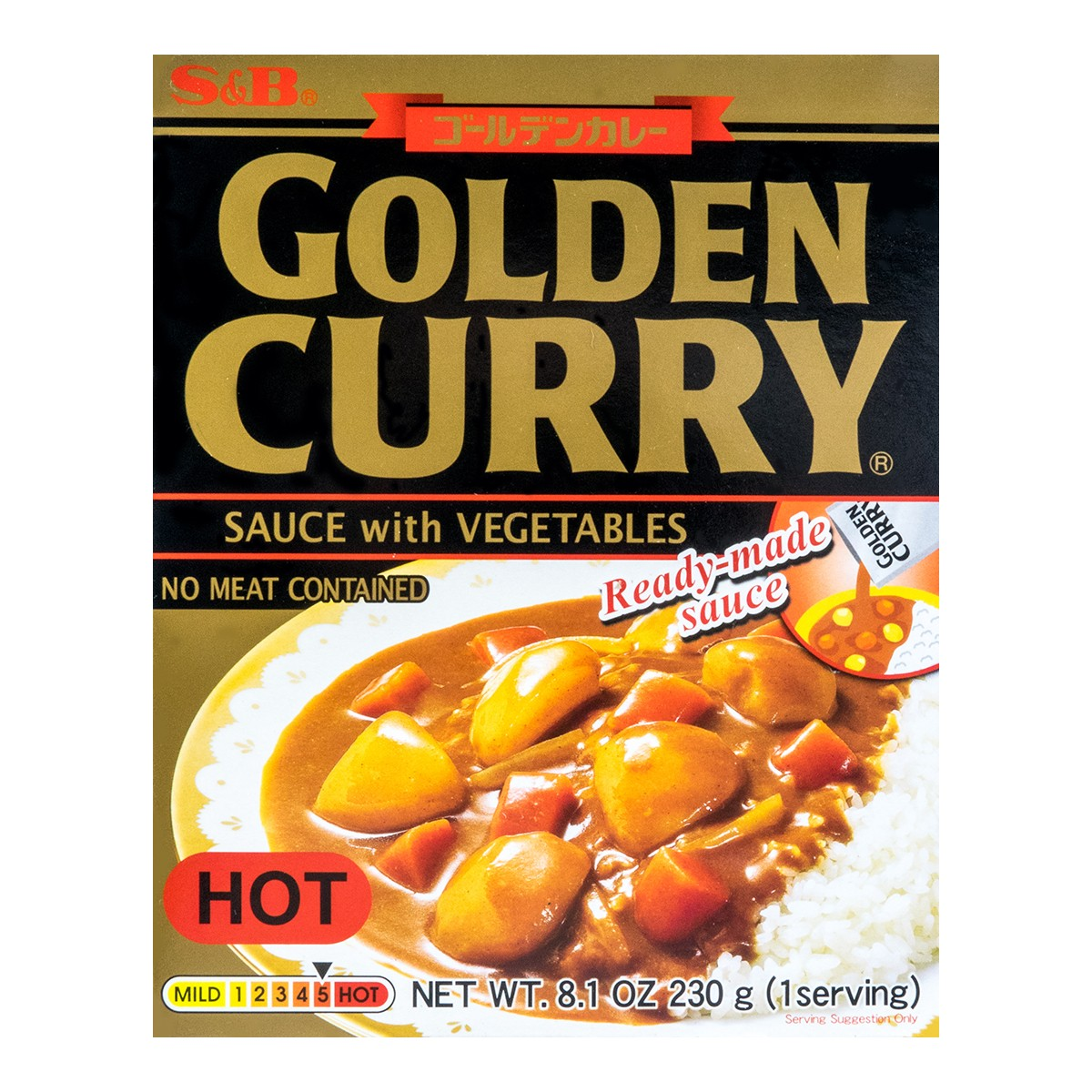 S&B Curry Golden Retort Hot 230g
