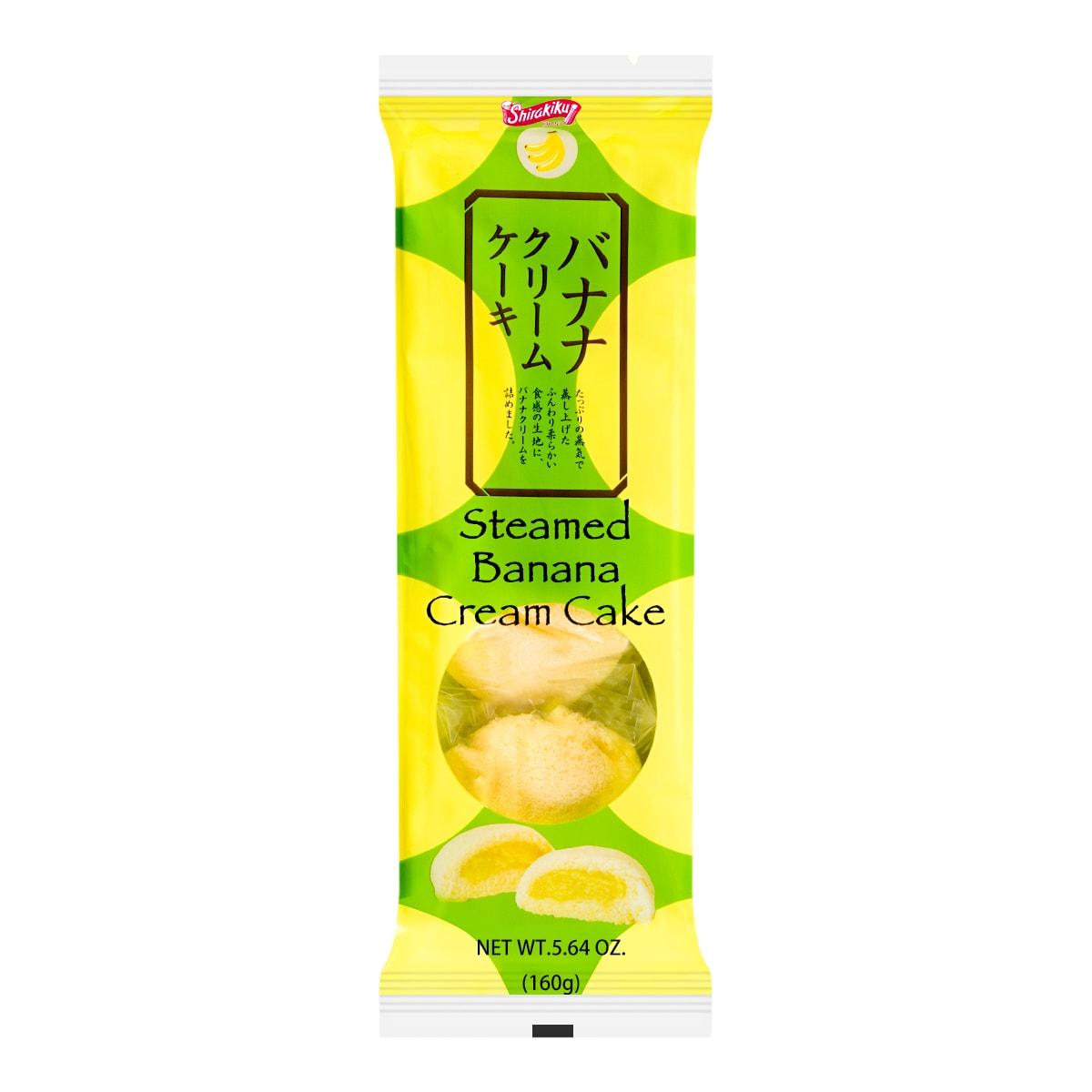 日本SHIRAKIKU赞岐屋  蒸香蕉奶油味铜锣烧 160g