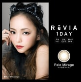日本 ReVIA 1Day Pale Mirage 日抛美瞳 零度 10片入
