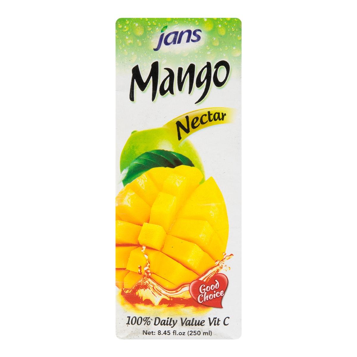 美国JANS 100%芒果果汁汁饮料 250ml