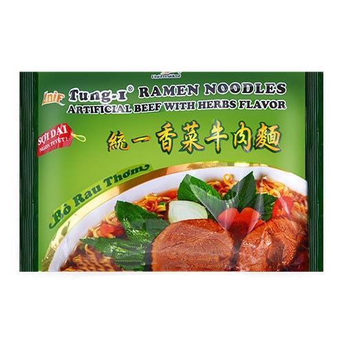 台湾统一 纯正浓郁香菜牛肉面 85g
