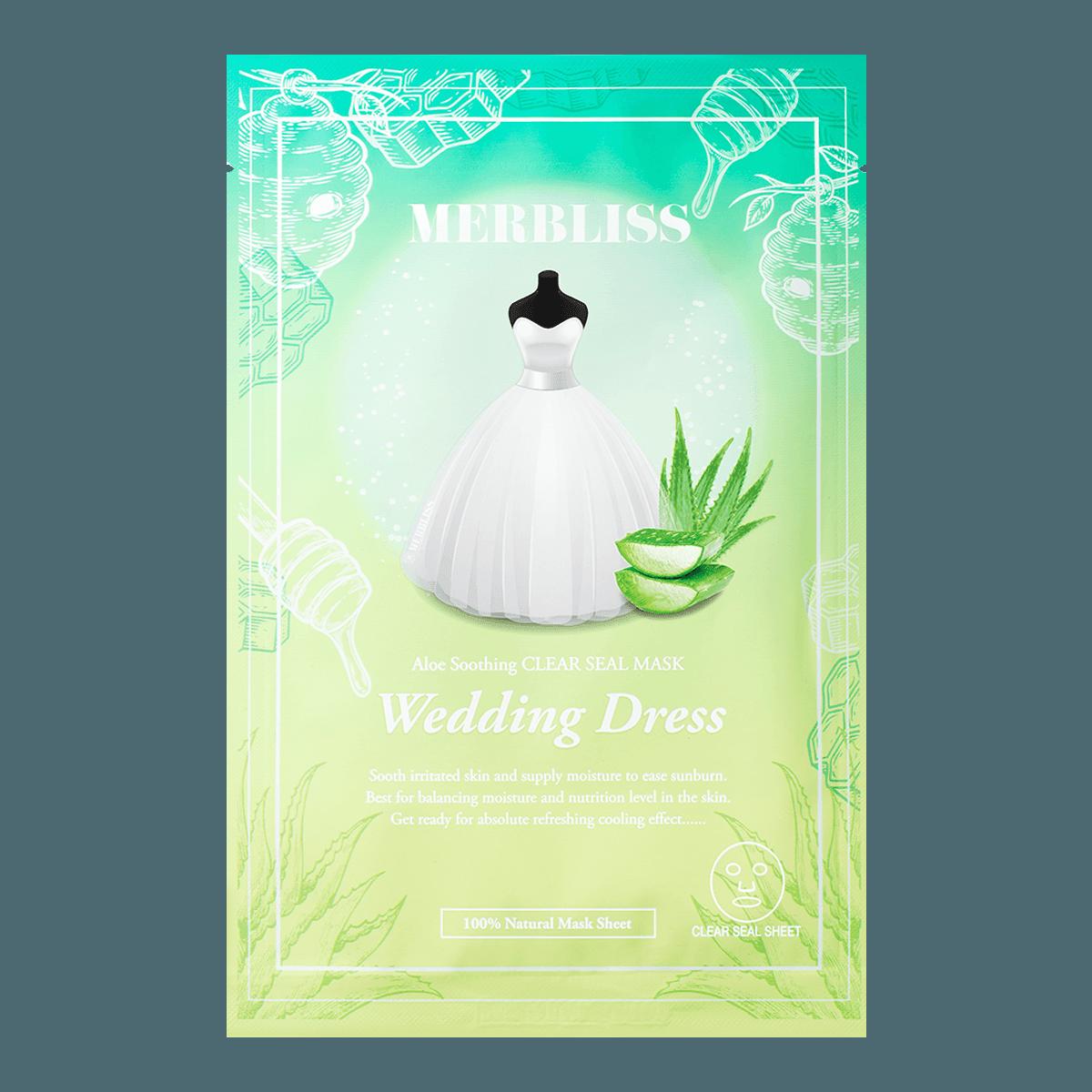 MERBLISS Wedding Dress Aloe Soothing Clear Seal Mask 1 Sheet