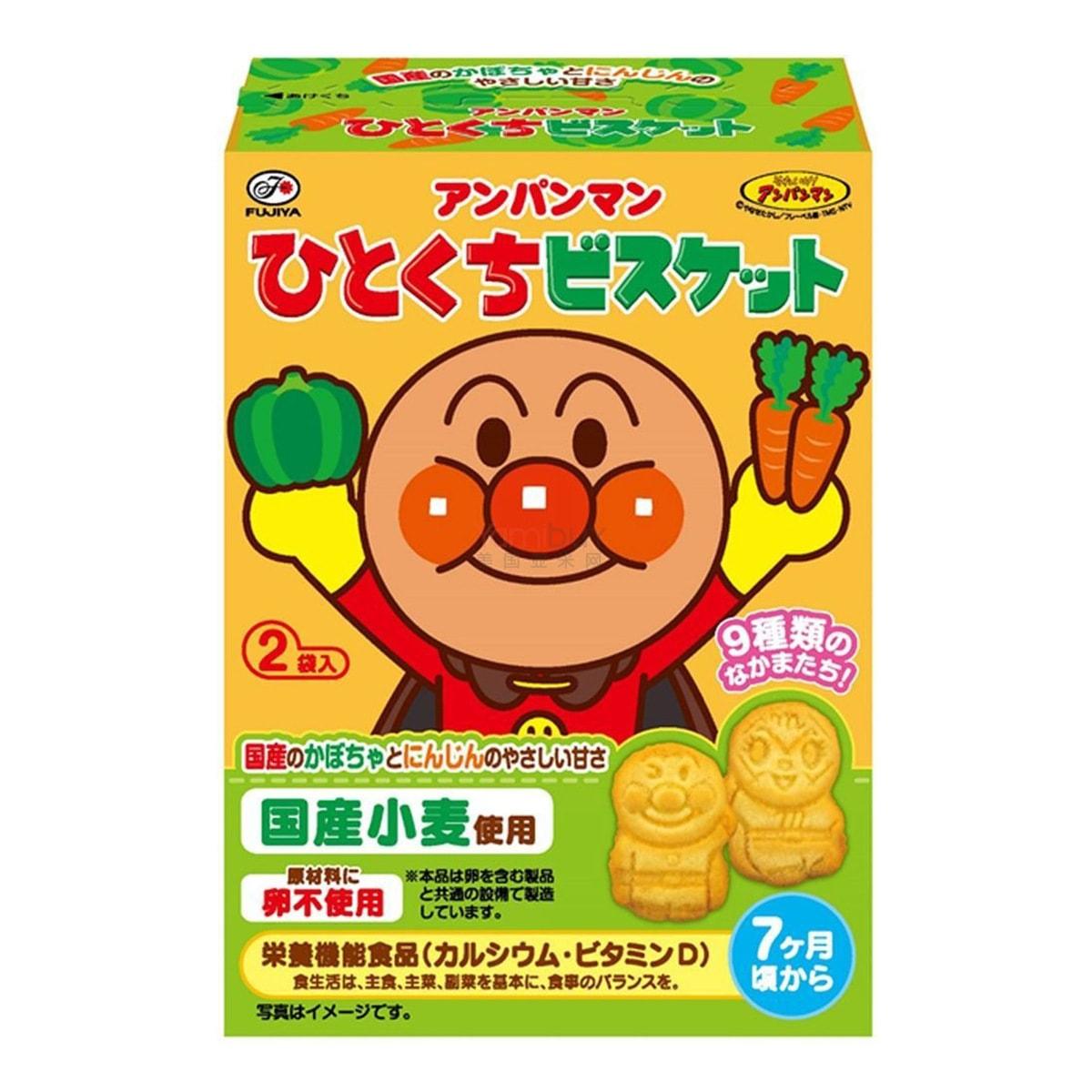 日本FUJIYA不二家 面包超人小麦饼干 72g