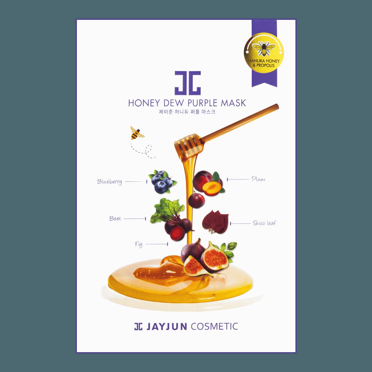 韩国JAYJUN 水光麦卢卡蜂蜜紫莓面膜 5片入