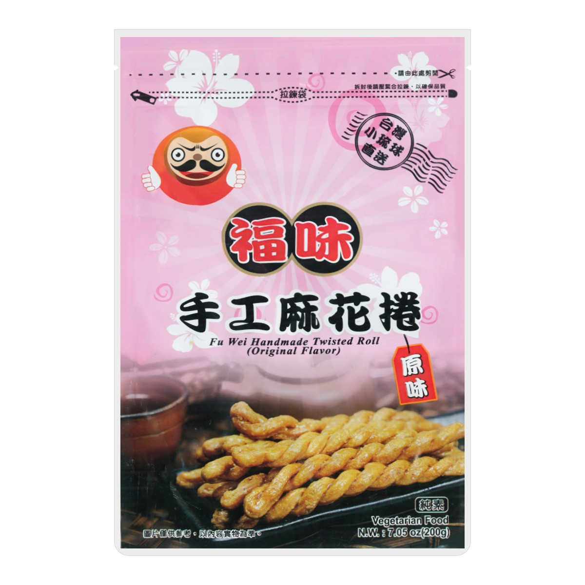 台湾小琉球福味 原味手工麻花卷 200g