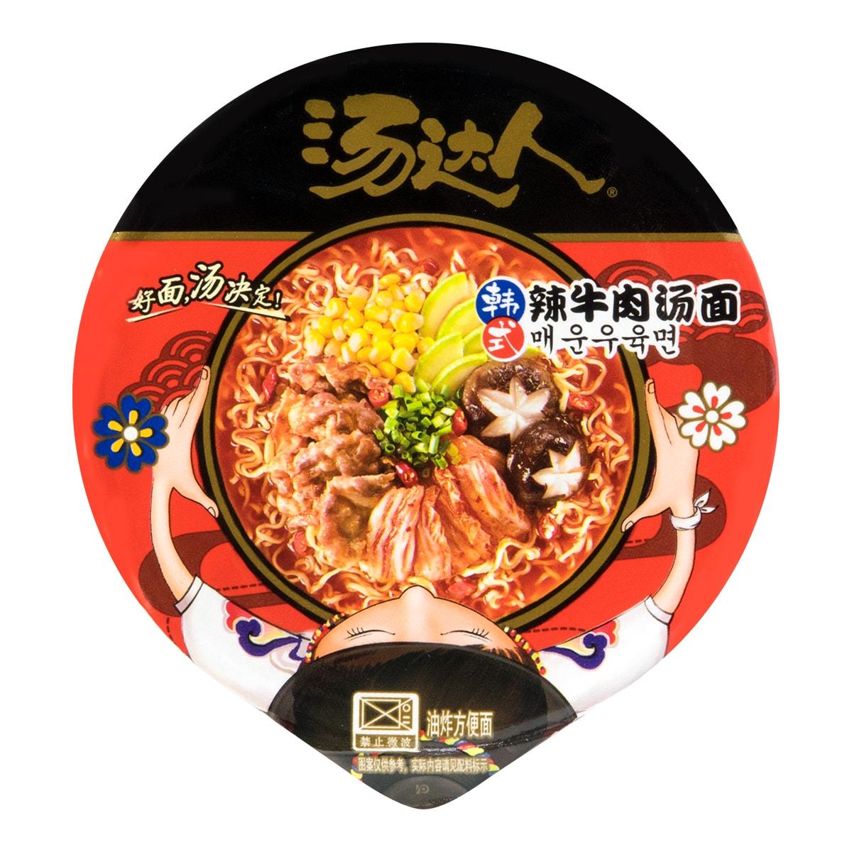 台湾统一 汤达人 韩式辣牛肉汤面 杯装 82g