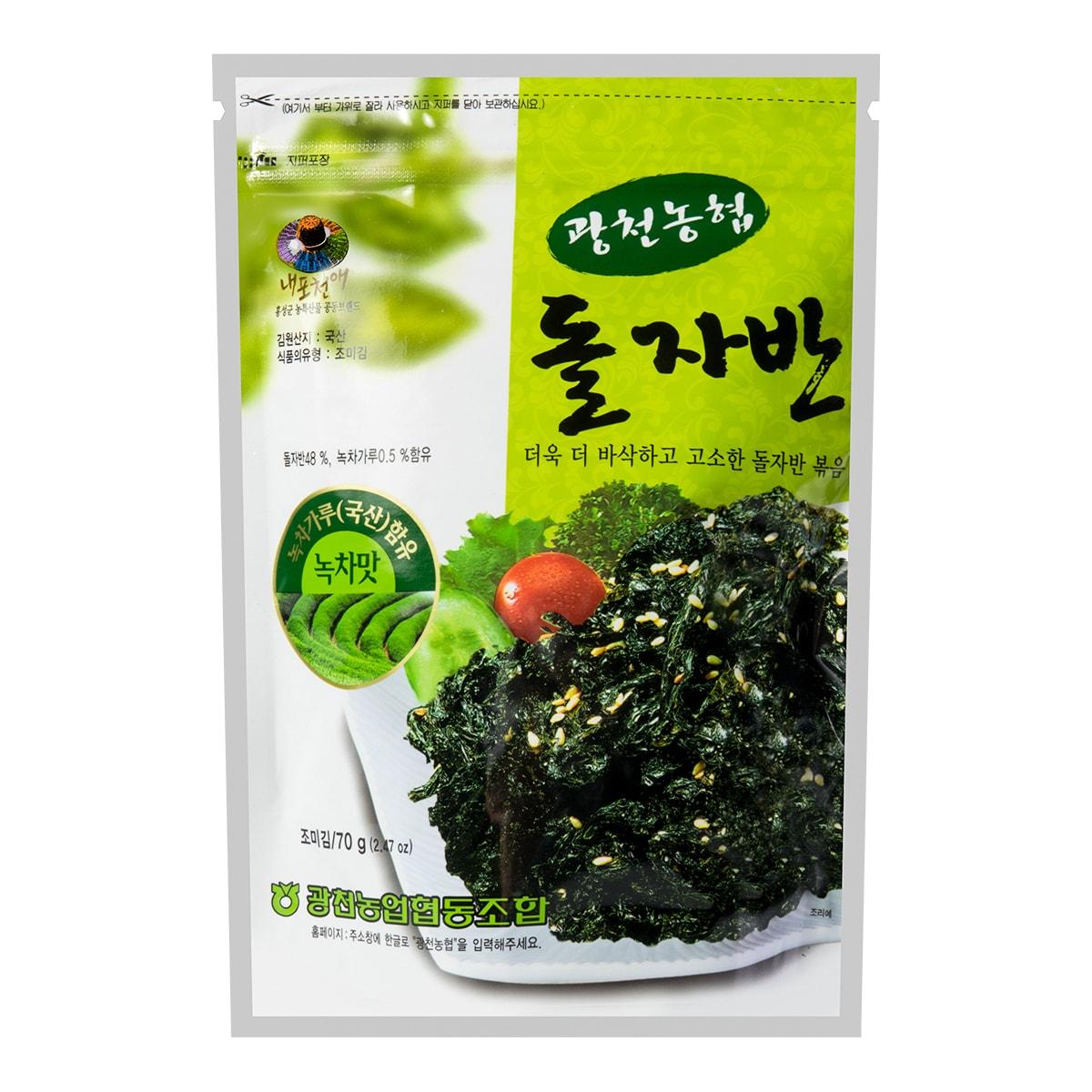 韩国HAITAI海太 香油海苔 绿茶味 70g