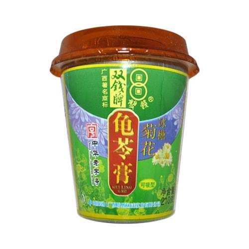 双钱牌 可吸型龟苓膏 冰糖菊花味 210g 中华老字号