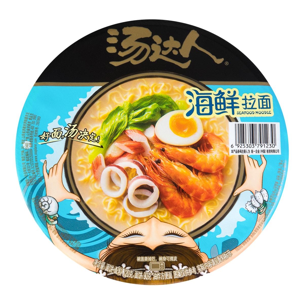 台湾统一汤达人 海鲜拉面 碗装 120g