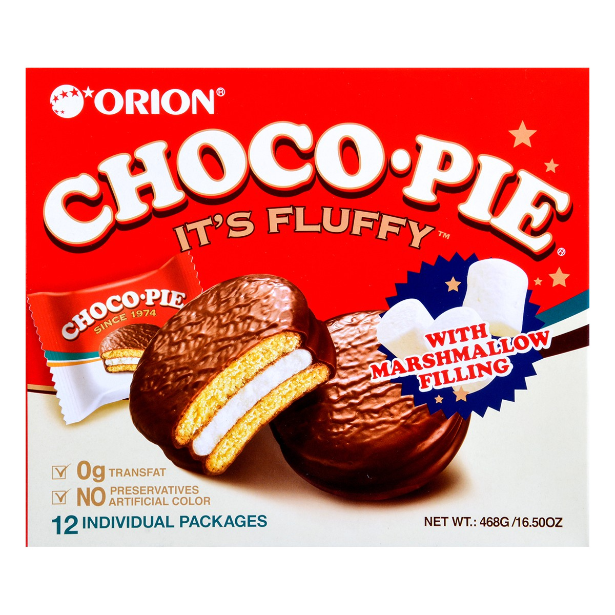 ORION Choco Pie with Marshmallow Filling 12Packs
