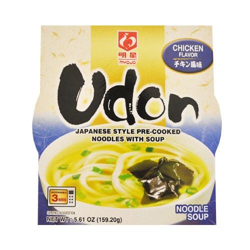 日本MYOJO明星 可微波鲜汤速食乌冬面 鸡肉味 159.2g