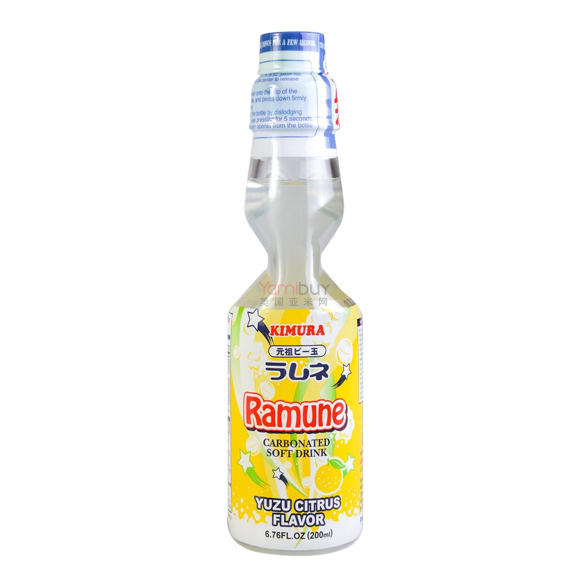 日本KIMURA元祖 弹珠汽水 蜜柚味 200ml