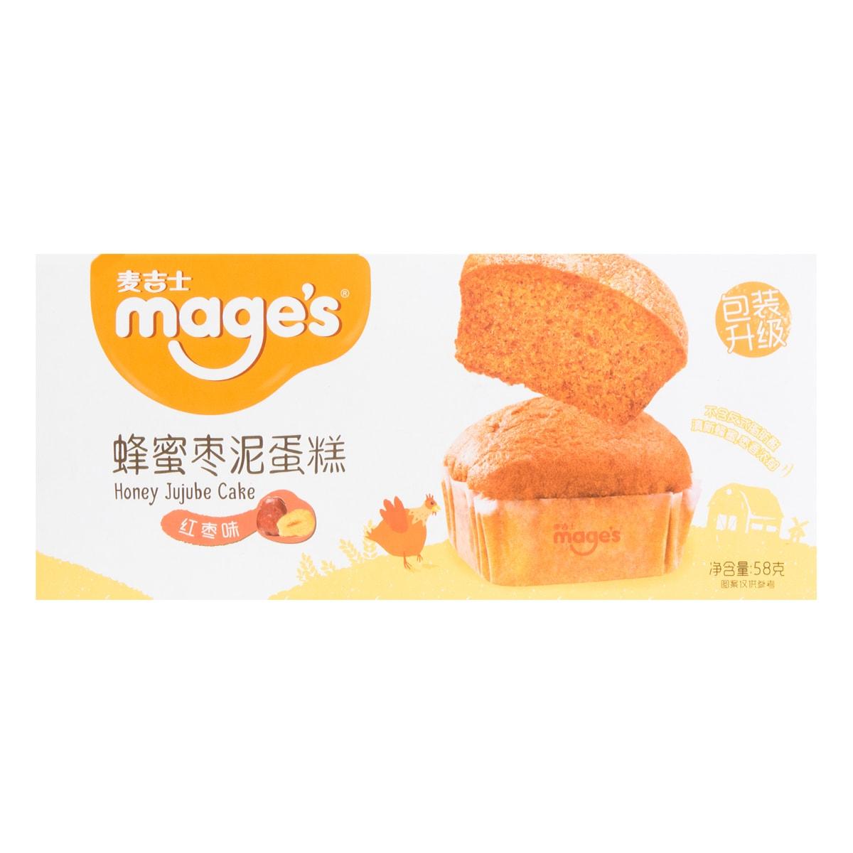 麦吉士 蜂蜜枣泥蛋糕 红枣味 58g