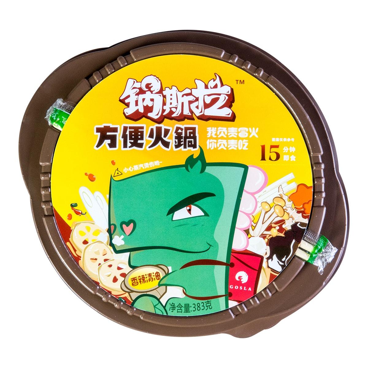 锅斯拉 香辣清油方便火锅 383g