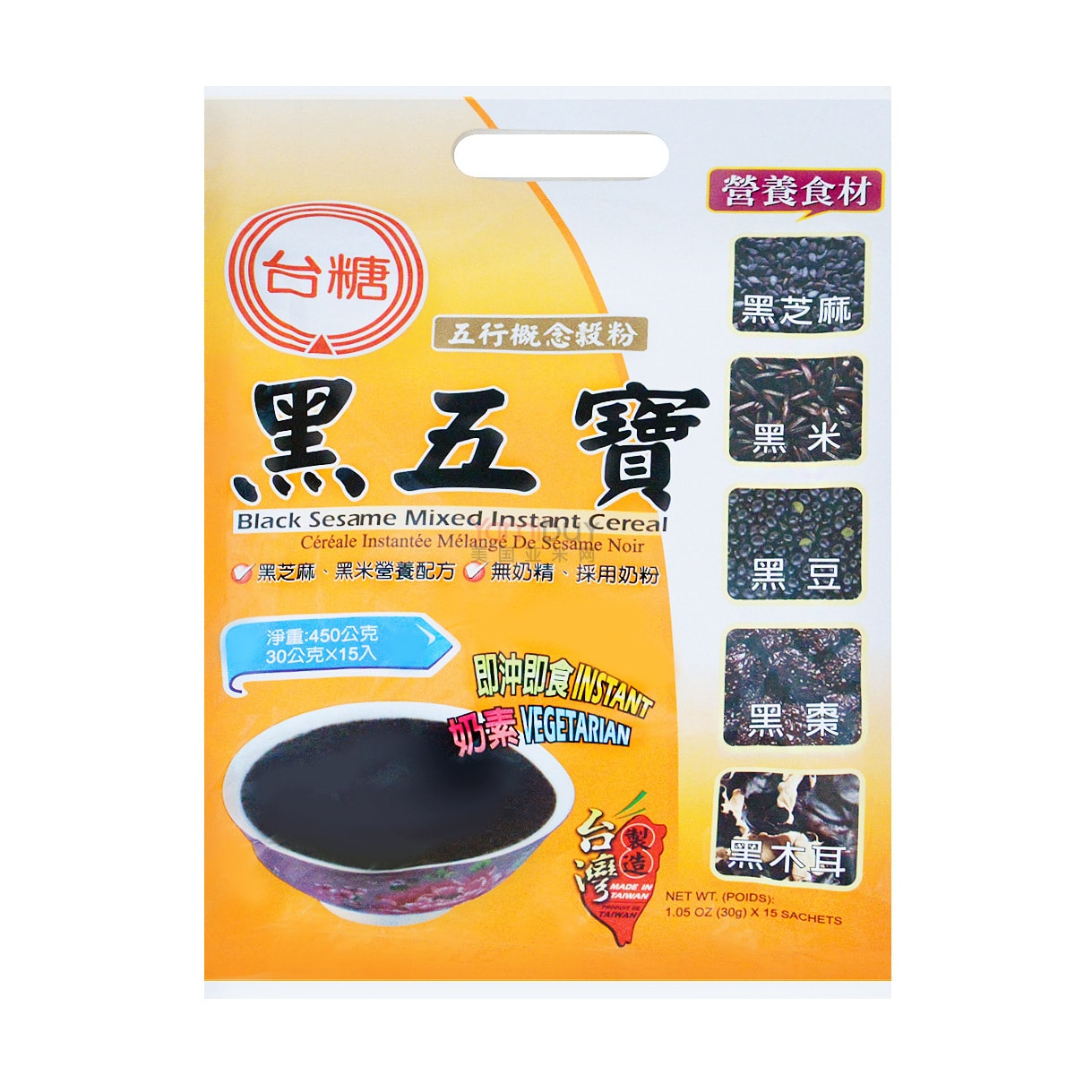 TAISUGAR Black Sesame Mixed Instant Cereal 450g