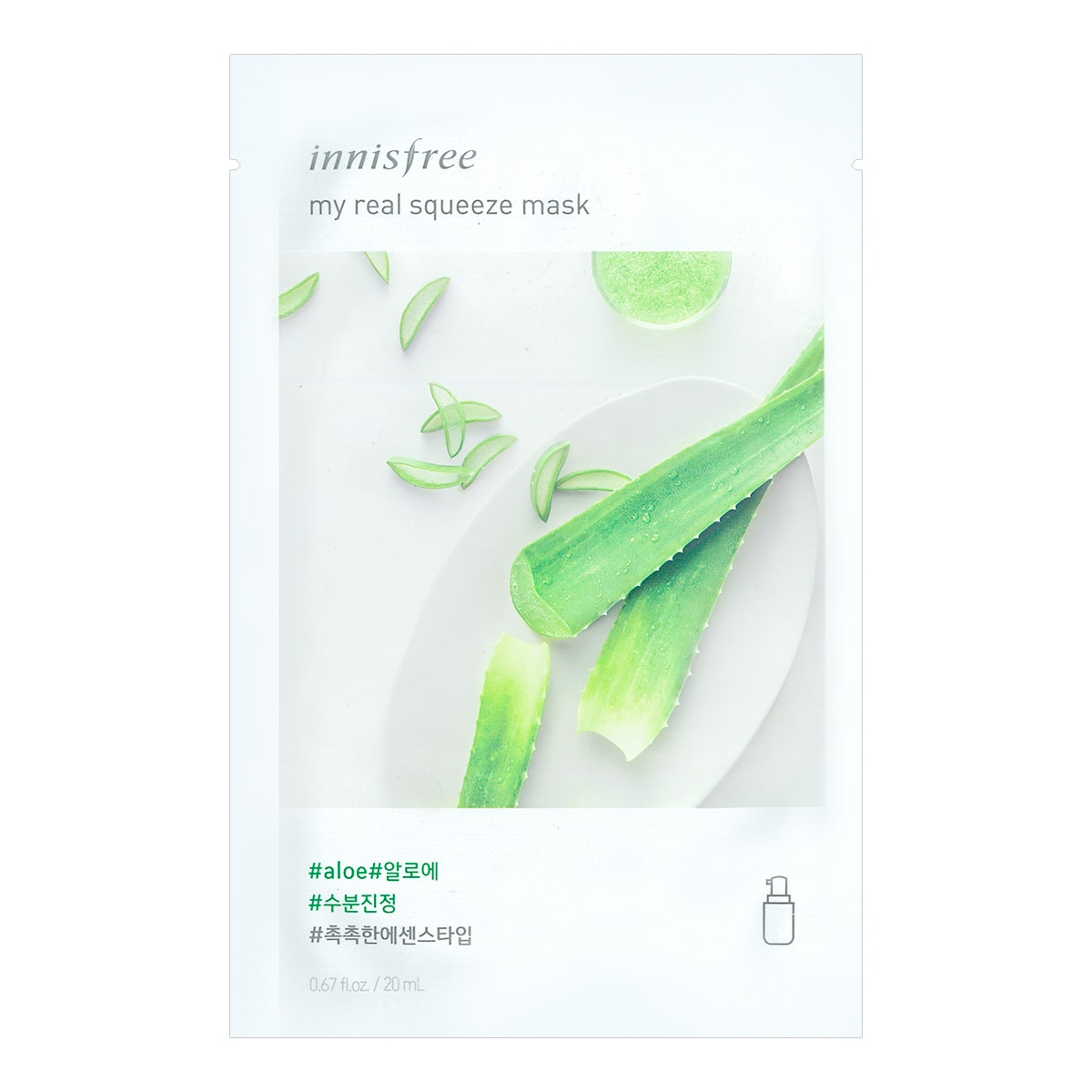 INNISFREE My real squeeze mask  Aloe 1sheet