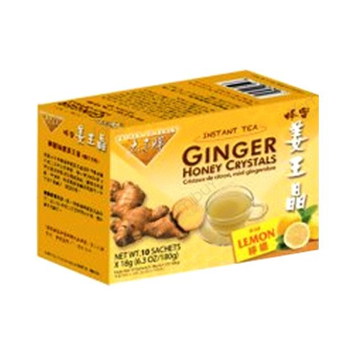 美国太子牌 即溶缓解痛经祛寒柠檬蜂蜜姜王晶姜茶冲剂 10袋入