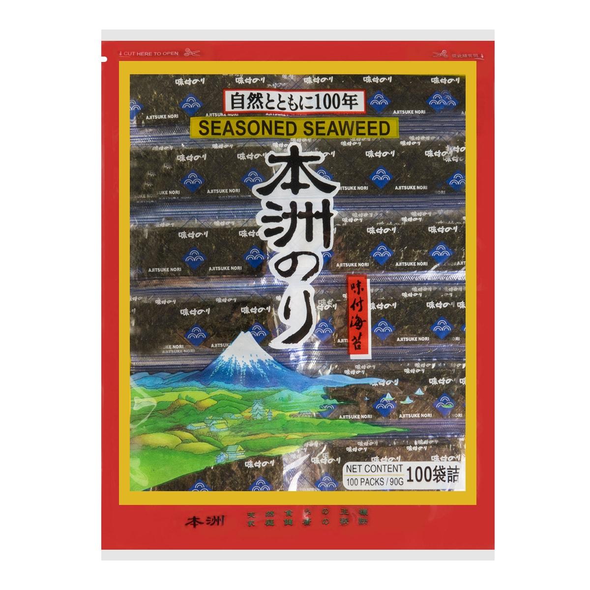 日本本洲 味付海苔 原味 90g