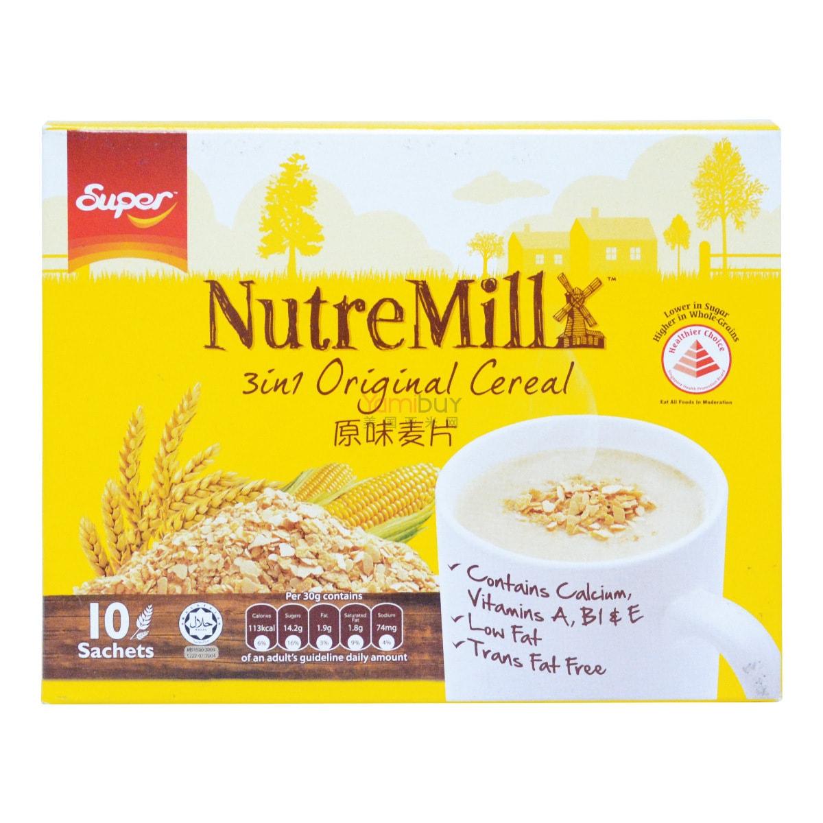 新加坡SUPER超级 三合一原味营养麦片 10包入