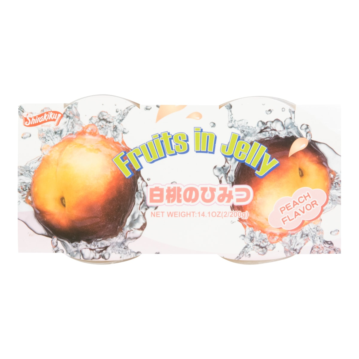 SHIRAKIKU Jelly Cup Peach Flavor 2 Cups 400g