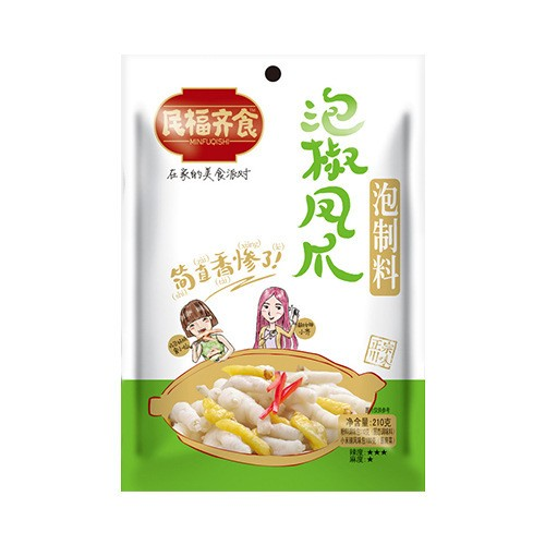 民福齐食 泡椒凤爪泡制料 210g